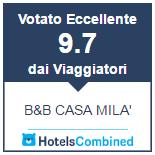 Valutazione Eccellente su Hotels Combined